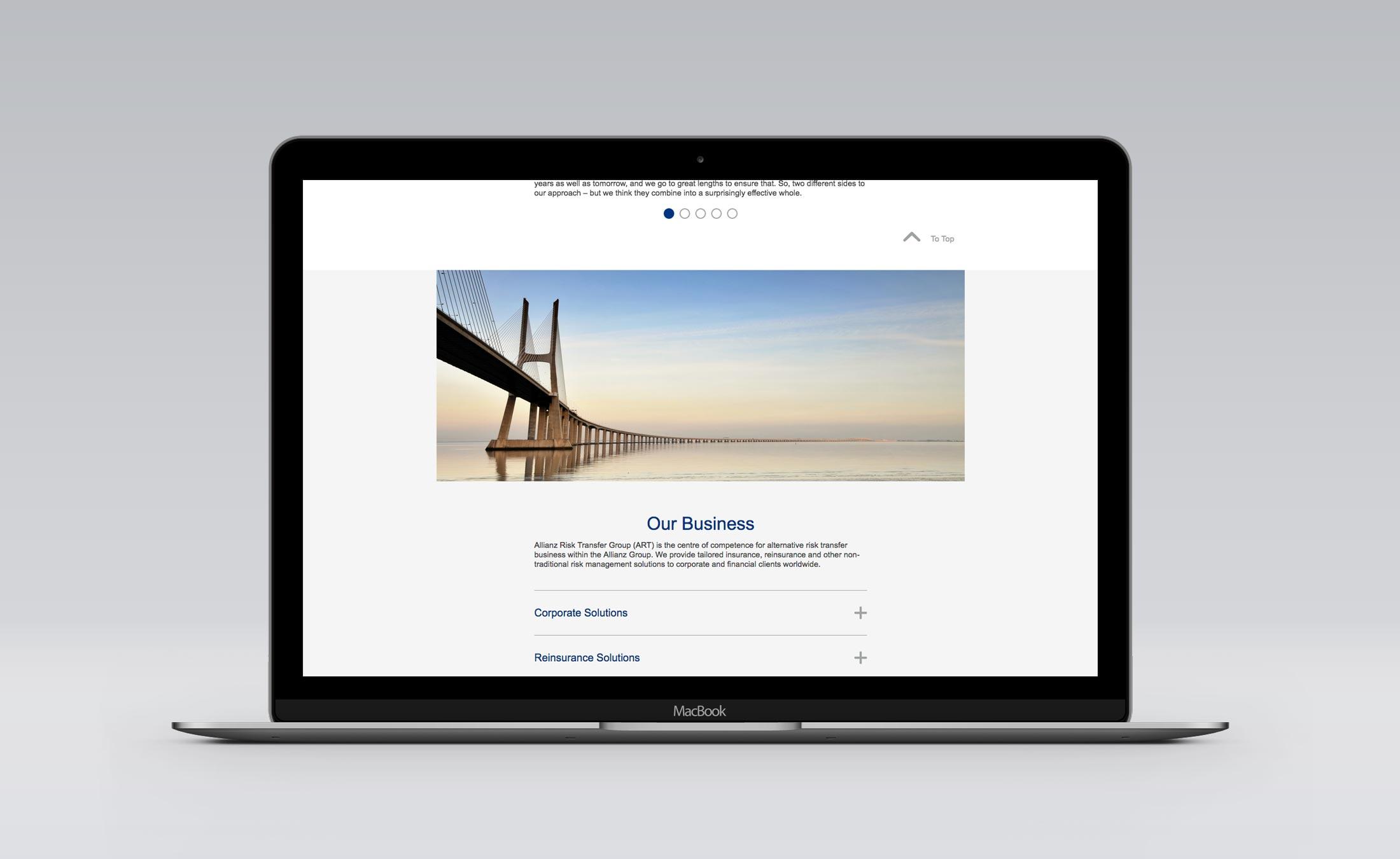 Website_Our Business-Allianz Risk Transfer Zürich