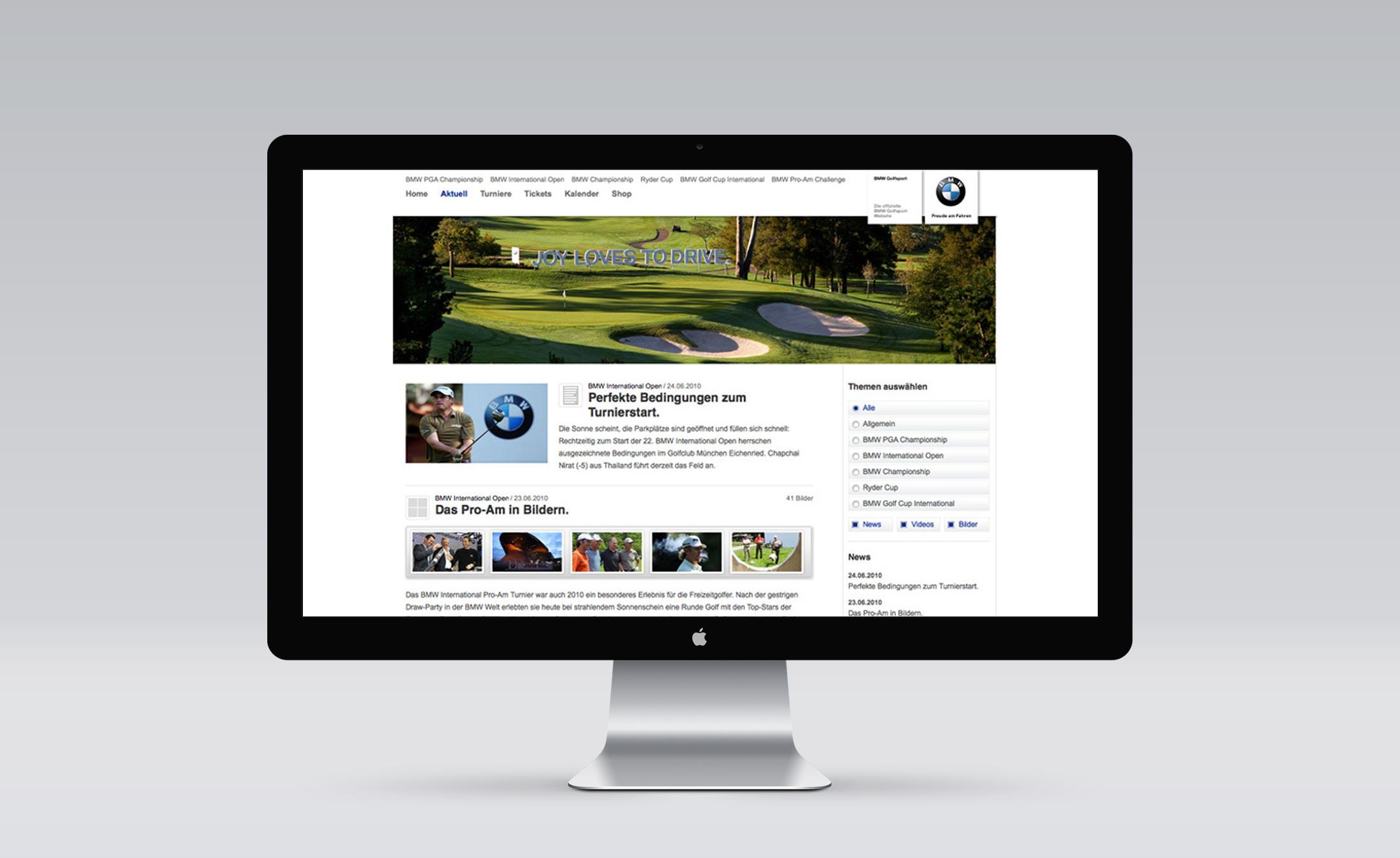 BMW Golfsport Screen 2