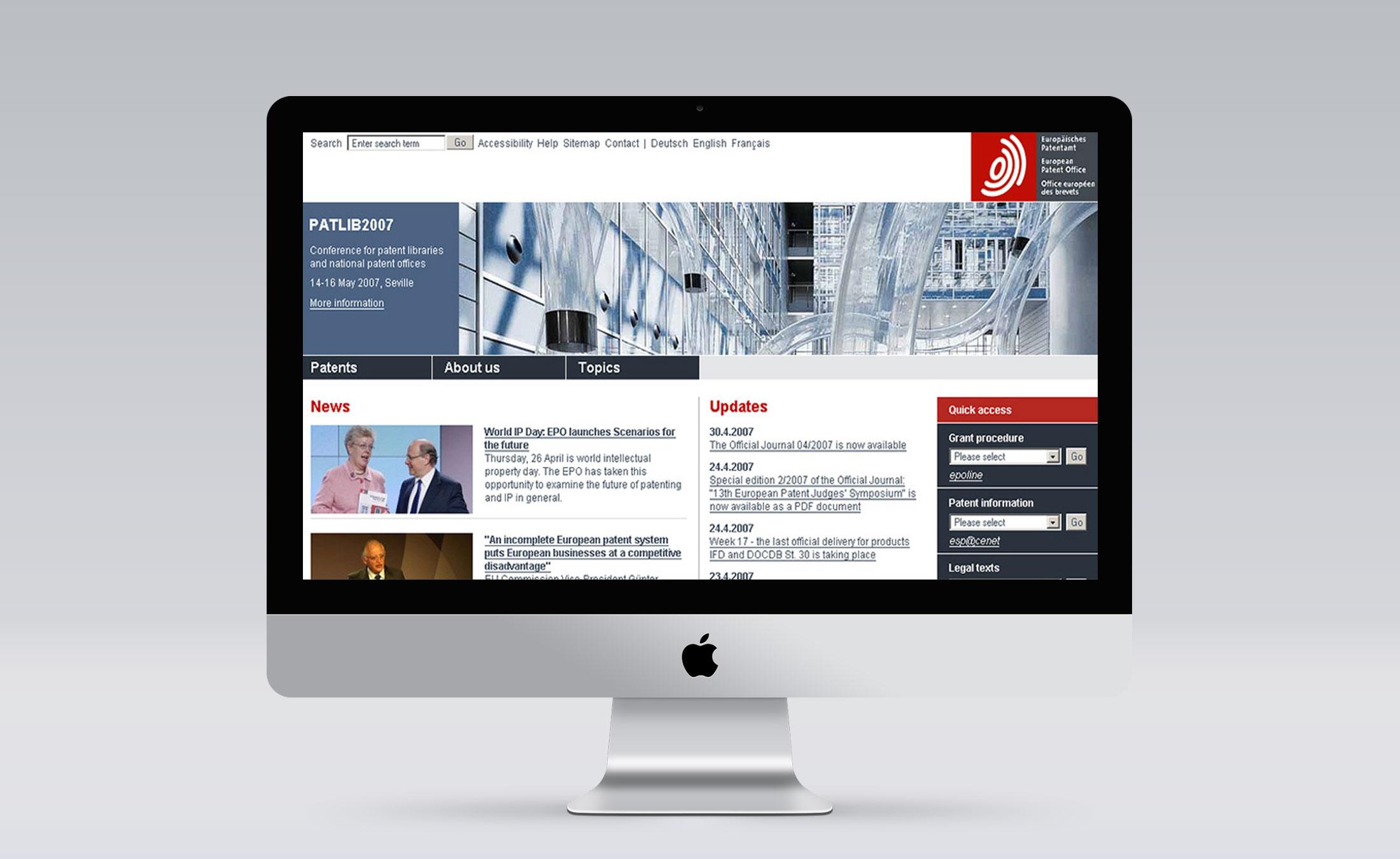 Europaeisches Patentamt Screen 1