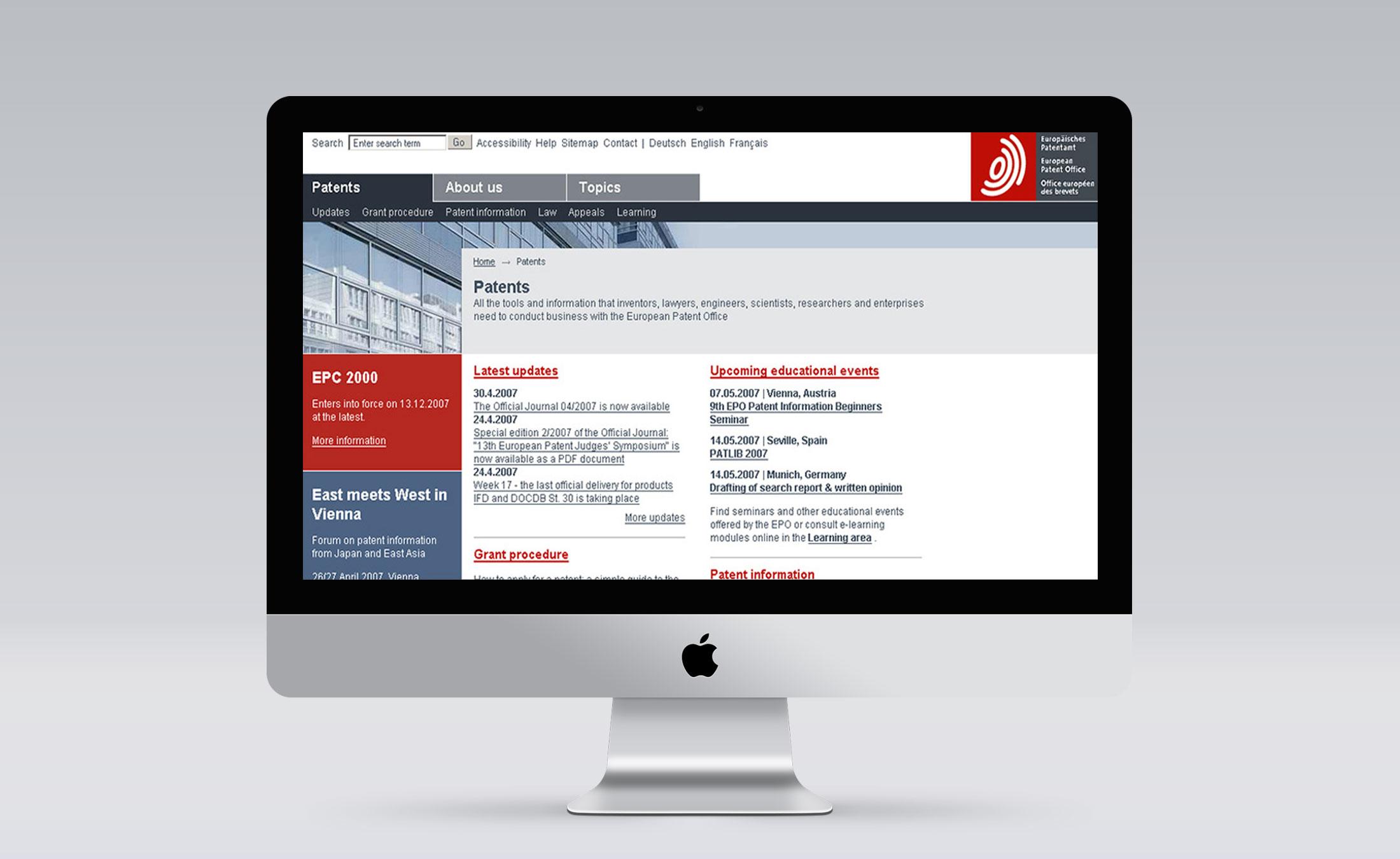 Europaeisches Patentamt Screen 2