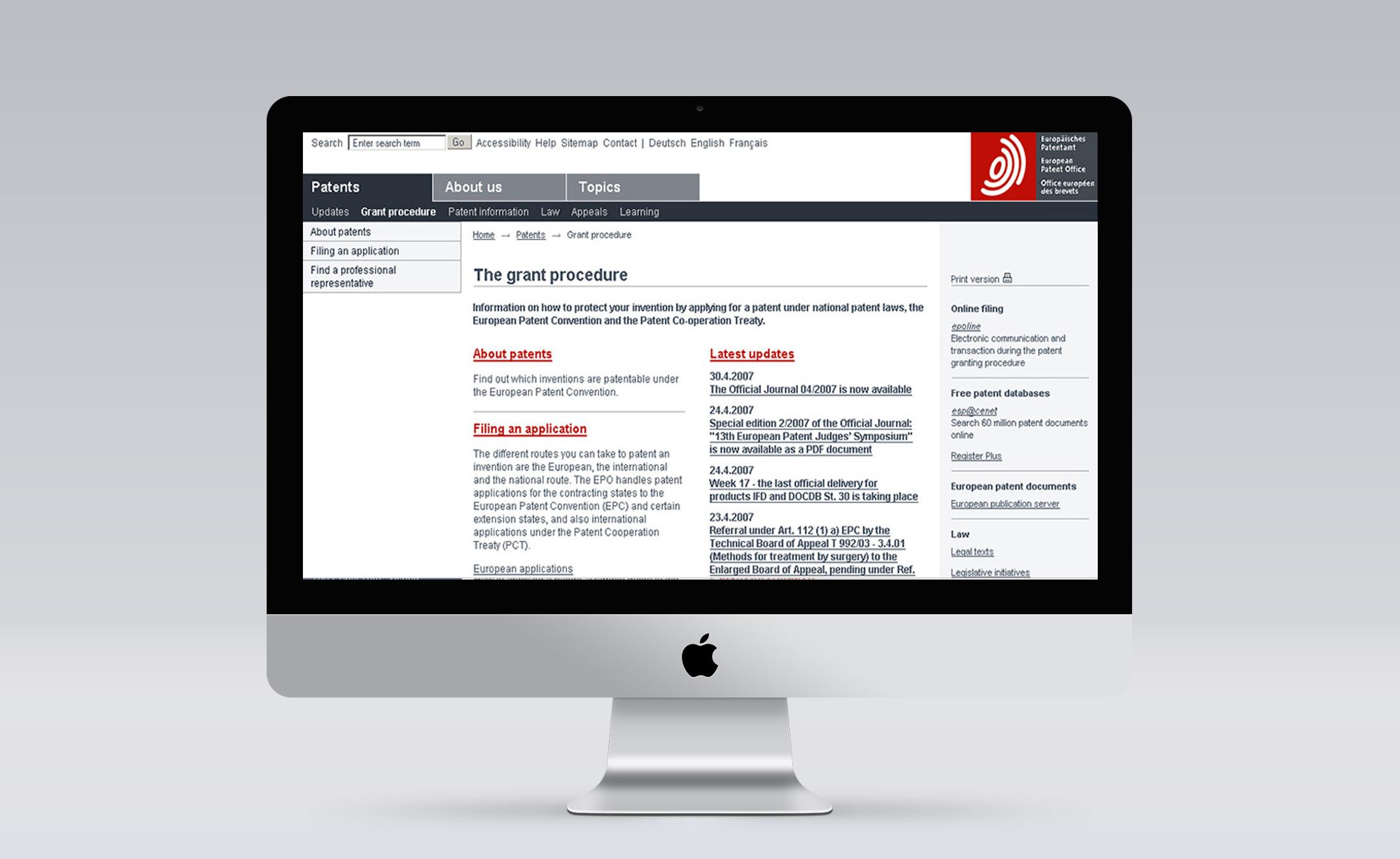 Europaeisches Patentamt Screen 4