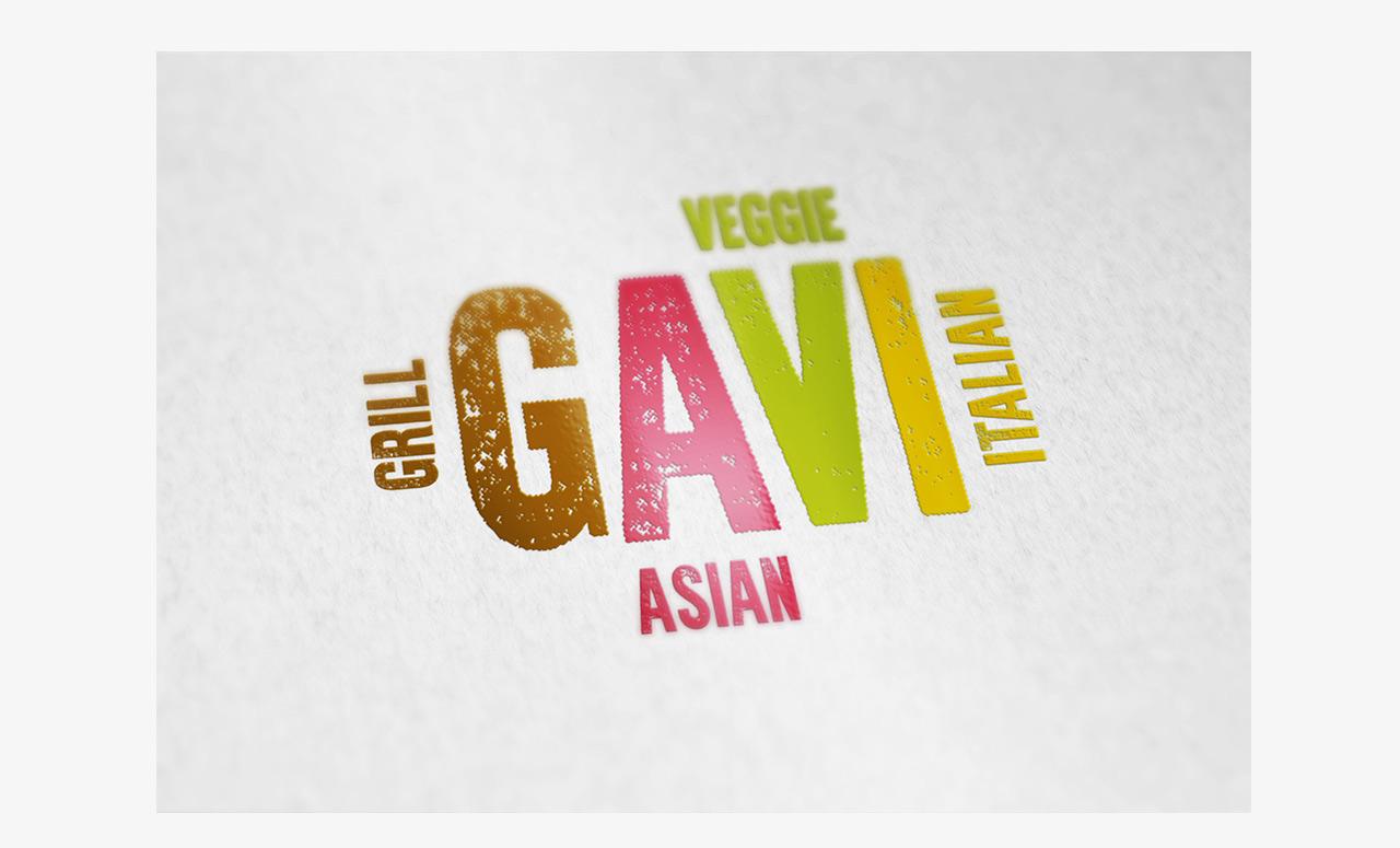 Branding für Restaurant GAVI. Logo
