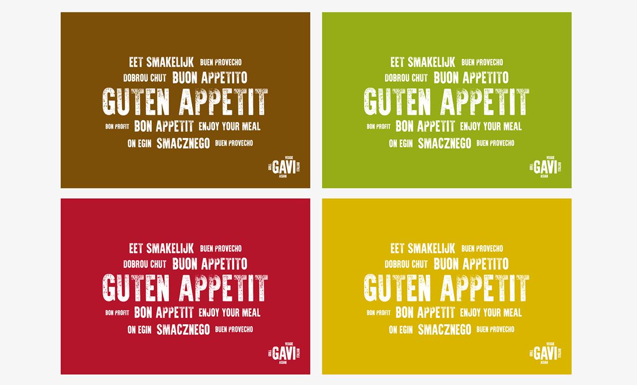 Branding für Restaurant GAVI: Tischsets
