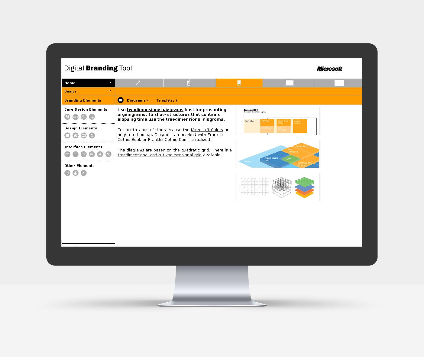 Branding Elemente: Zweidimensionale Diagramme_Digitaler Style Guide