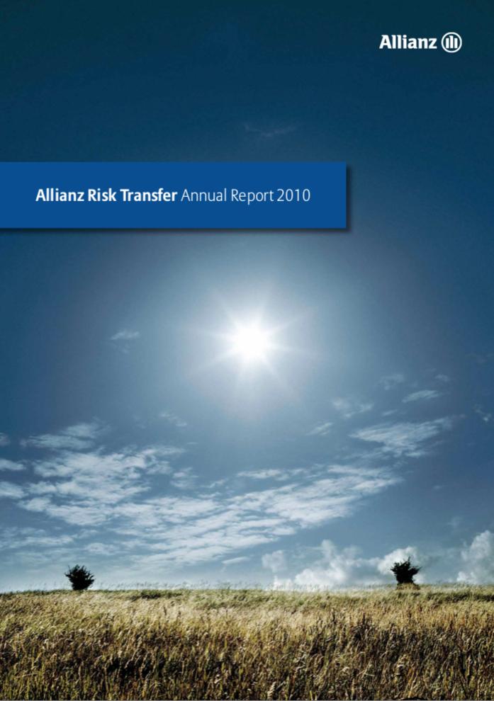 Titelblatt Geschäftsbericht der Allianz Risk Transfer Zürich