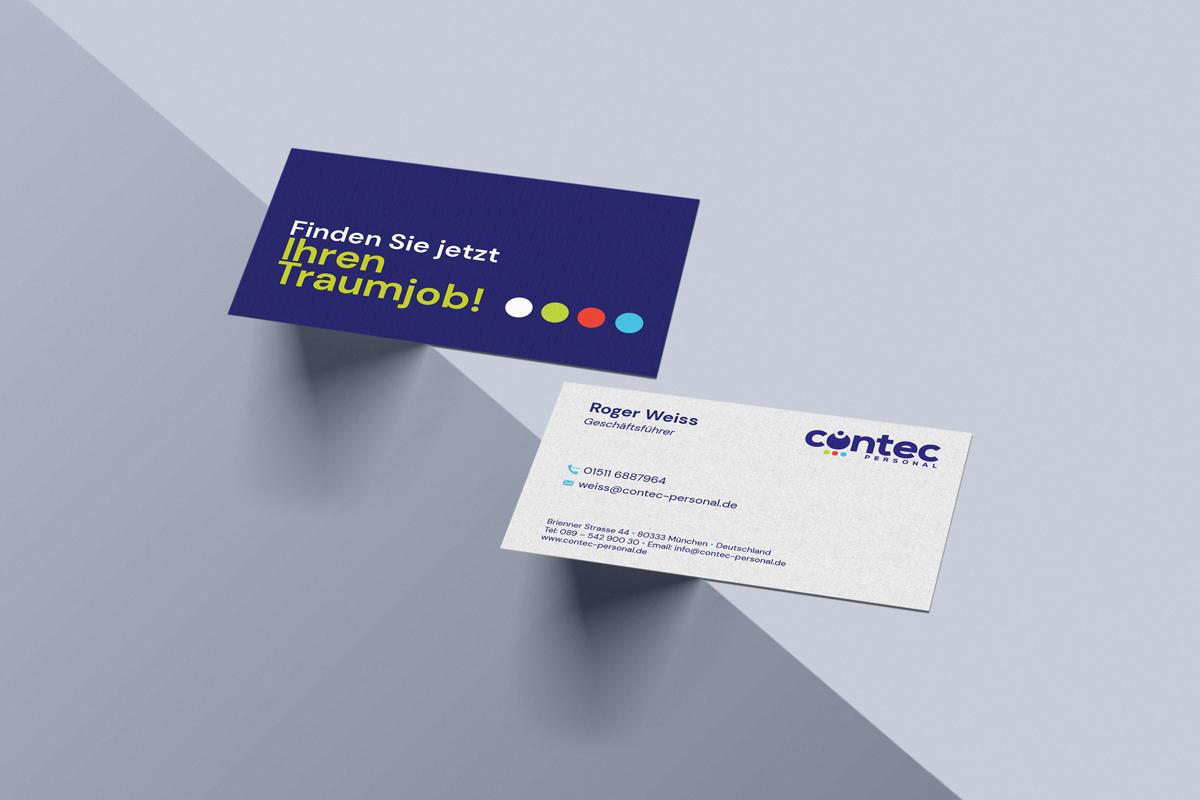Visitenkarten Contec Personal