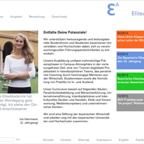 Screenshot2 Relaunch Website Bayerische Eliteakademie