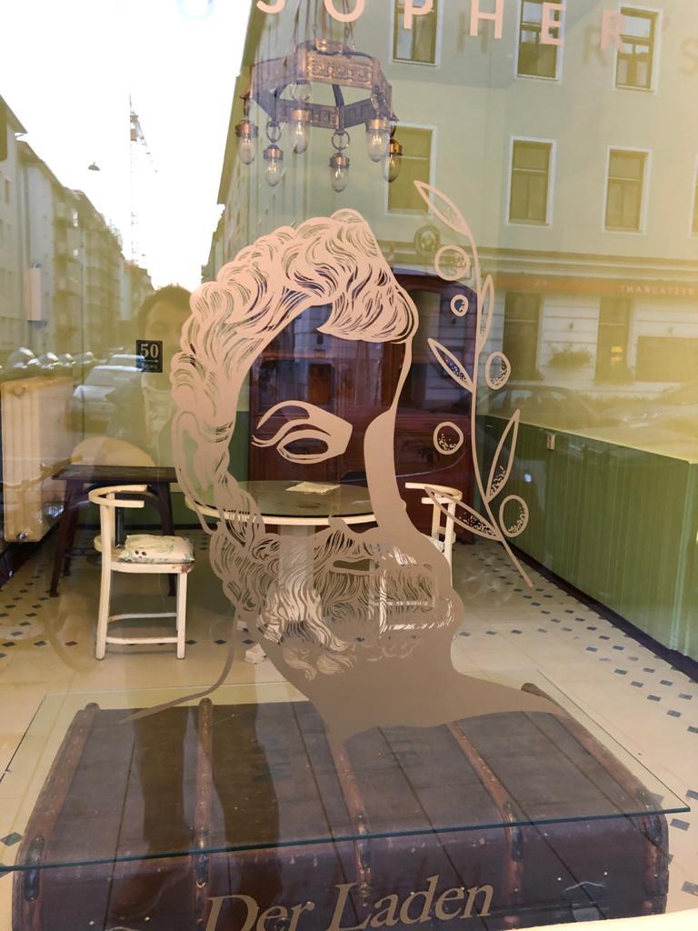 Shop Schaufenster Logo Ölberg Milet München Schwabing_2020