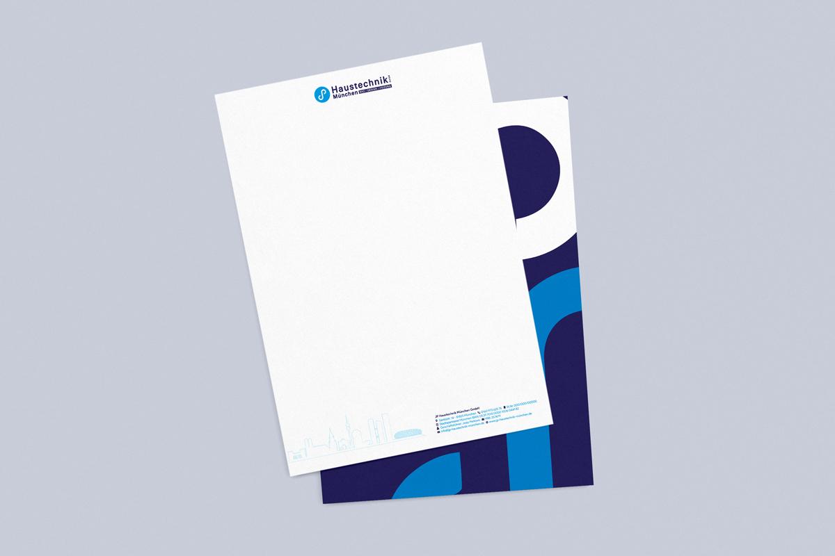 Briefpapier JP Haustechnik München
