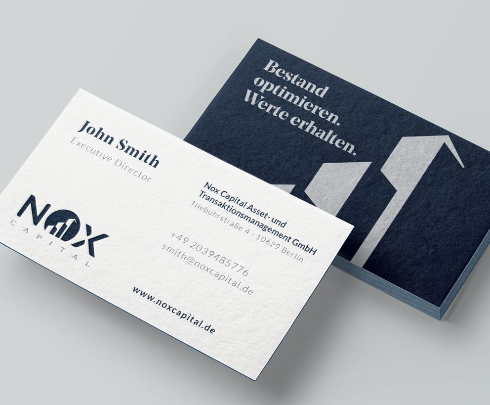 Visitenkarten Nox Capital