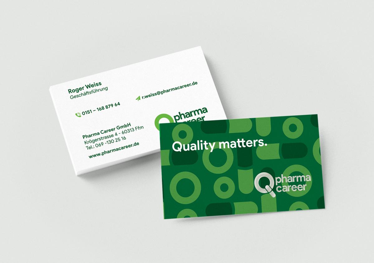 Visitenkarten Pharma Career