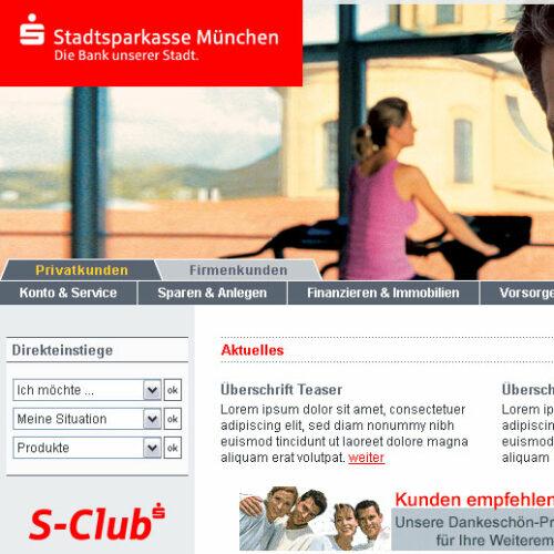 Stadtsparkasse Privatkunden Website