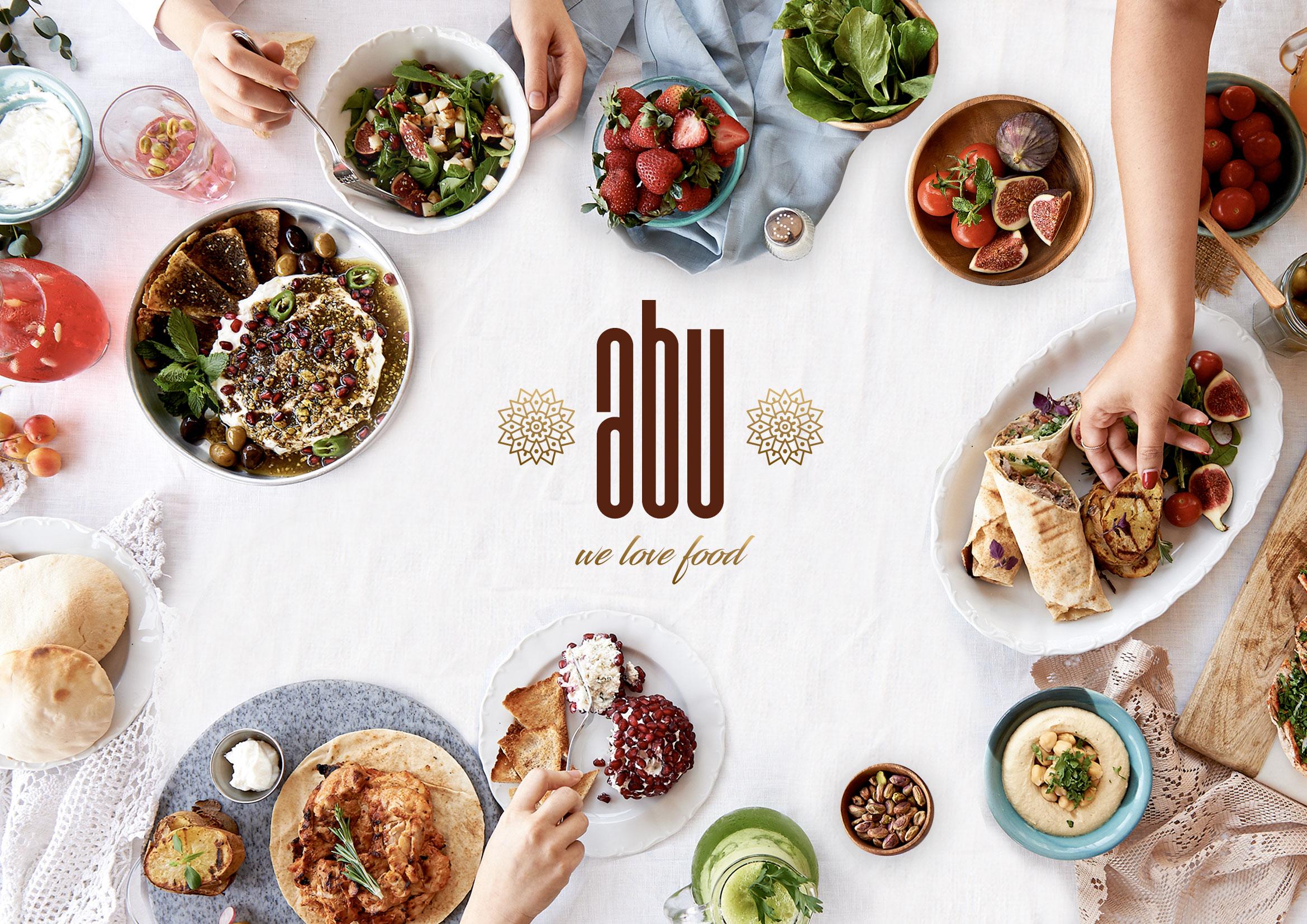 Logo und Branding für Restaurant abu